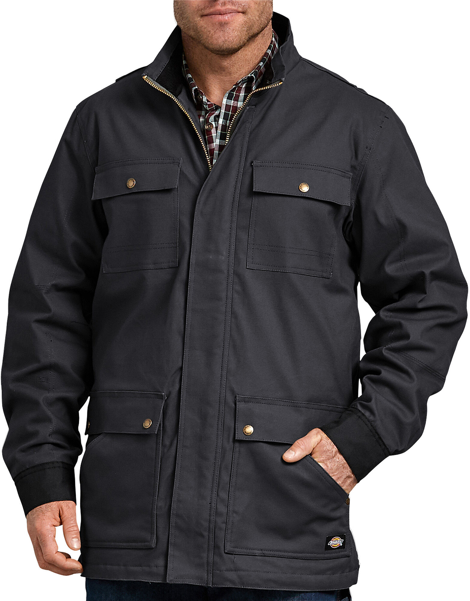 Dickies Mens Sanded Duck Flex Mobility Jacket Quilted Jacket