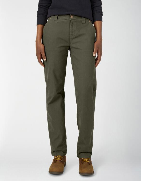 Pantalon menuisier en coutil pour femmes - Moss Green (RMS)