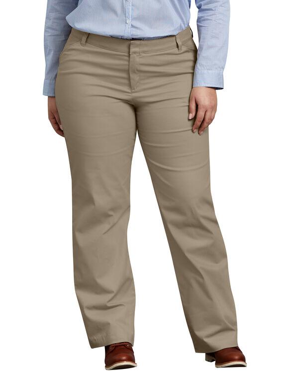 Women's Relaxed Fit Straight Leg Stretch Twill Pants (Plus) - Desert Khaki (DS)
