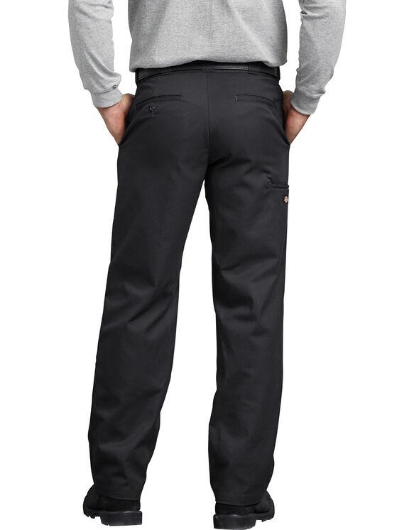 FLEX Regular Fit Straight Leg Double Knee Work Pants - Black (BK)