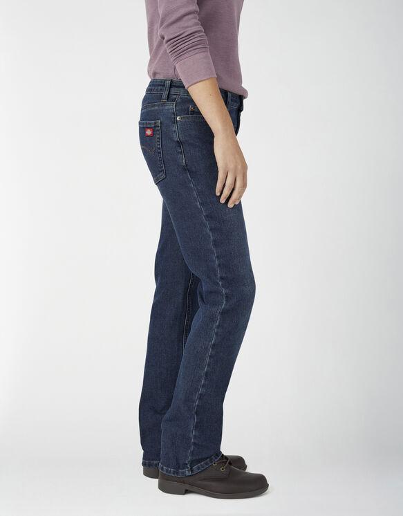 Jeans de travail à 5 poches Temp-iQ® FLEX en denim chaud pour femmes - Stonewashed Medium Blue (MSW)