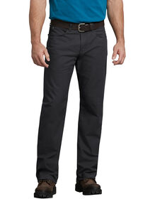 FLEX Regular Fit Straight Leg Tough Max™ Ripstop 5-Pocket Pant - RINSED BLACK (RBK)