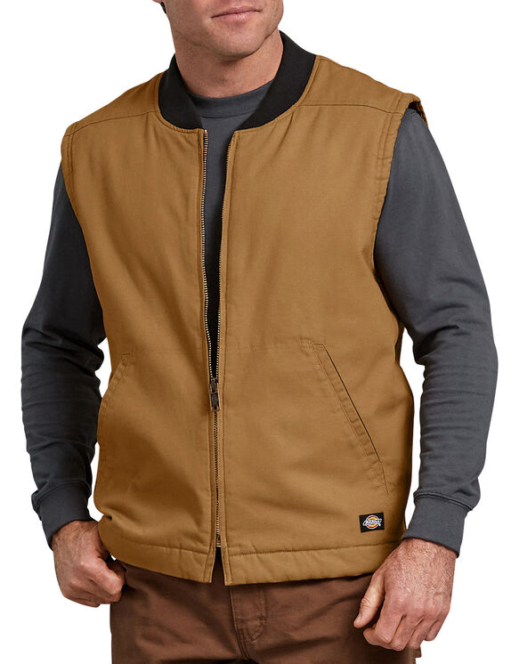 Sanded Duck Insulated Vest - RINSED BROWN DUCK (RBD)