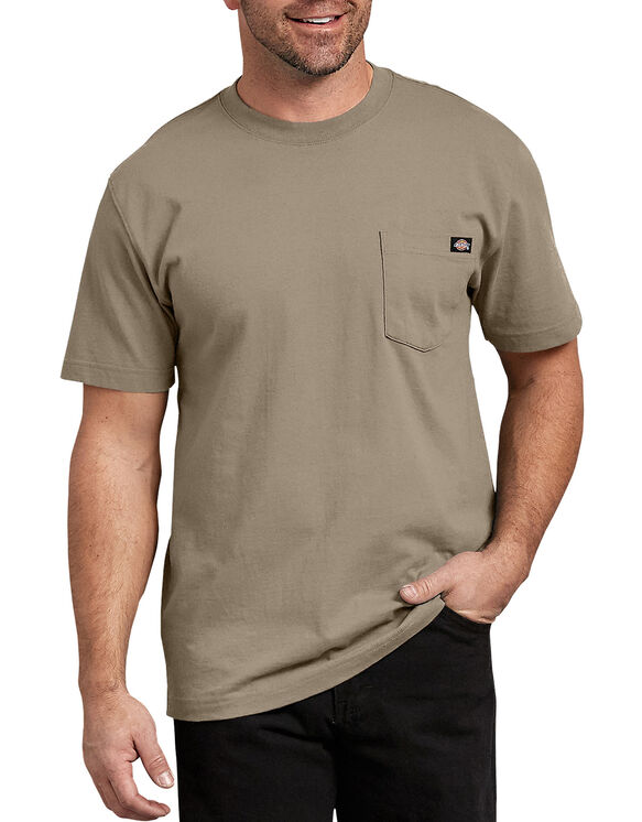 Short Sleeve Heavyweight Crew Neck Tee - Desert Khaki (DS)