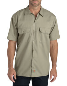 Flex Relaxed Fit Short Sleeve Twill Work Shirt - Desert Khaki (DS)
