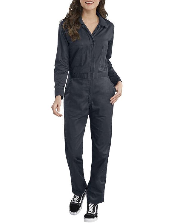 Women's Long Sleeve Cotton Coverall - Dark Navy (DN)
