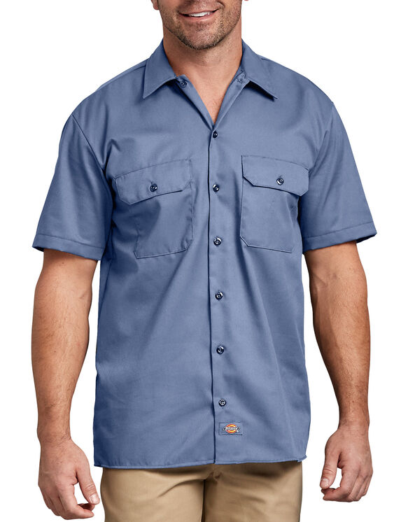 Short Sleeve Work Shirt - Gulf Blue (GB)