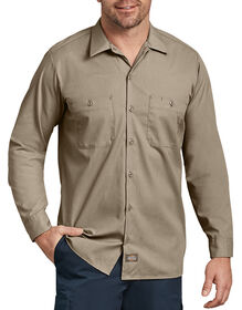 Long Sleeve Industrial Work Shirt - Desert Khaki (DS)