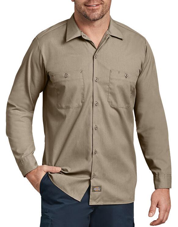 Long Sleeve Industrial Work Shirt - Desert Khaki (DS)