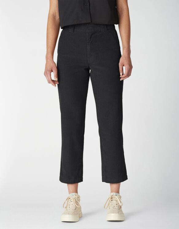 Women's Reworked Corduroy Ankle Pants - Black (BKX)