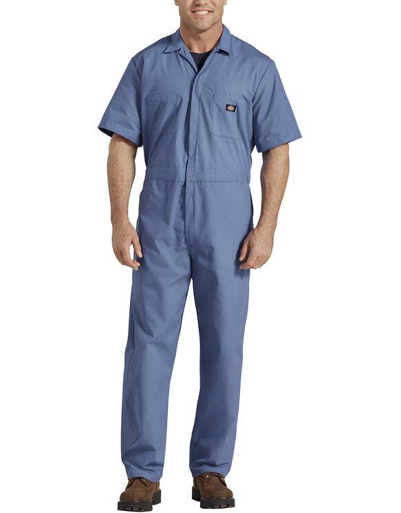 Short  Sleeve  Coverall  - Medium Blue (MB)