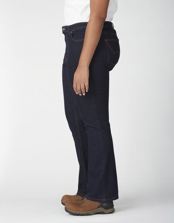 eans extensible Forme parfaite taille plus à jambe semi-évasée pour femmes - Rinsed Indigo Blue (RNB)