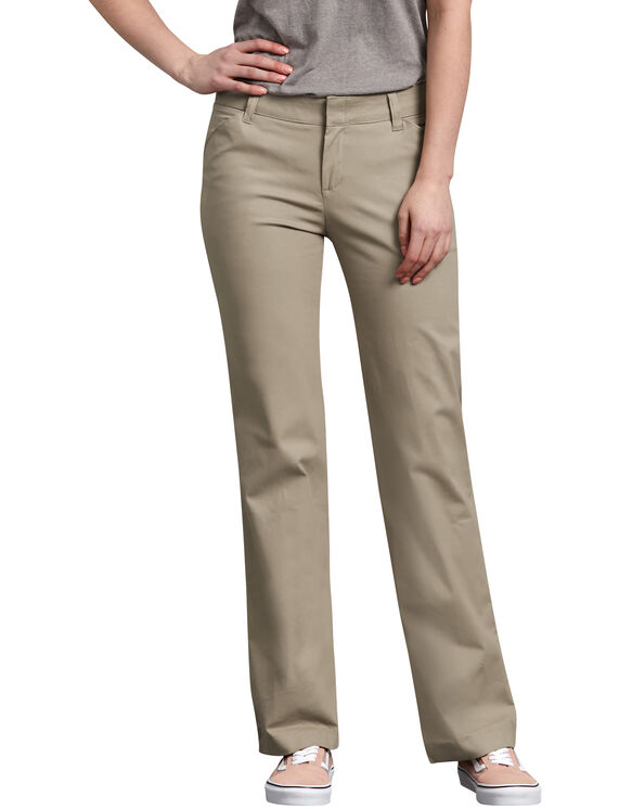 Women's Relaxed Straight Stretch Twill Pants - Desert Khaki (DS)