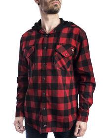 Chemise tissée en flanelle avec molleton - Noir/rouge anglais (BKER)