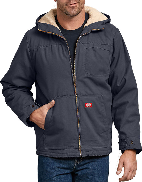 Duck Sherpa Lined Hooded Jacket - Diesel Gray (RYG)