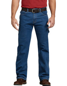 FLEX Relaxed Fit Straight Leg Carpenter Denim Jeans - Stonewashed Indigo Blue (FSI)