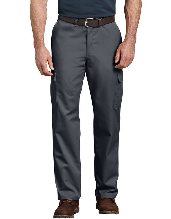 Industrial Relaxed Fit Straight Leg Cargo Pants - Dark Charcoal Gray (DC)