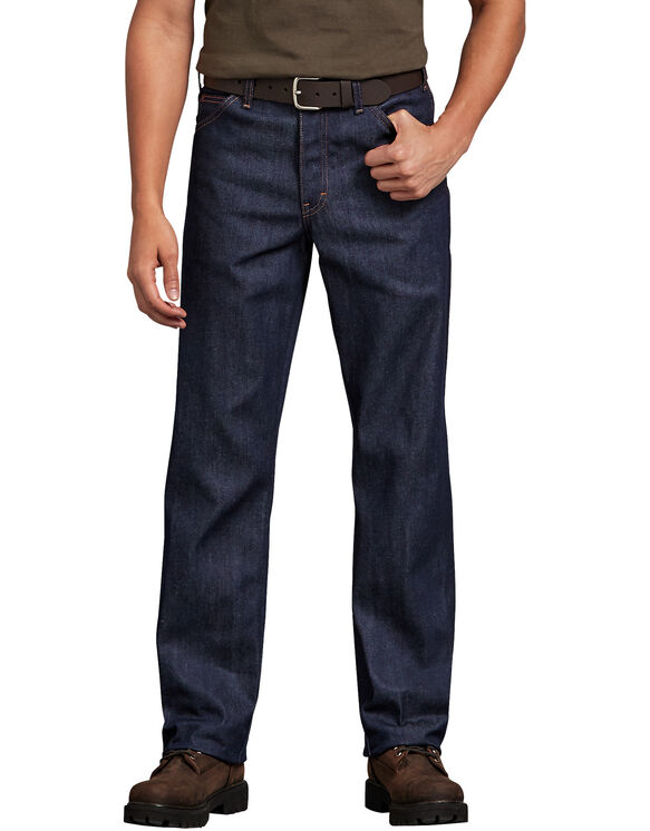 Regular Straight Fit 5-Pocket Denim Jeans - Indigo Blue (NB)