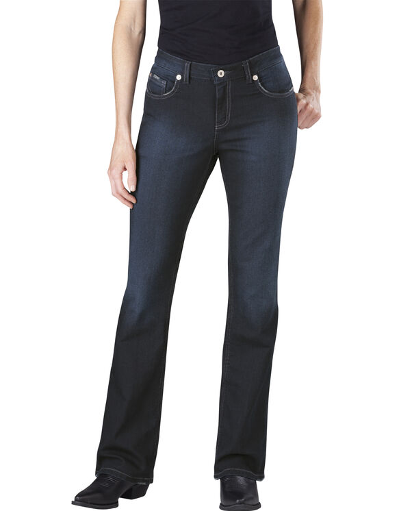 Women's Slim Boot Cut Denim Jean - Antique Dark Blue (ATD1)