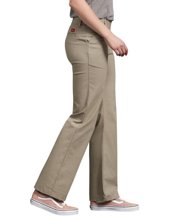 Pantalon droit décontracté en sergé extensible pour femmes - Desert Khaki (DS)