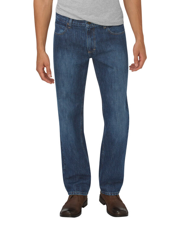 Dickies X-Series Relaxed Fit Straight Leg 5-Pocket Denim Jean - Medium Indigo Blue (HMI)