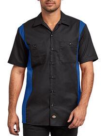 Two-Tone Short Sleeve Work Shirt - BLACK/ROYAL (BKRB)
