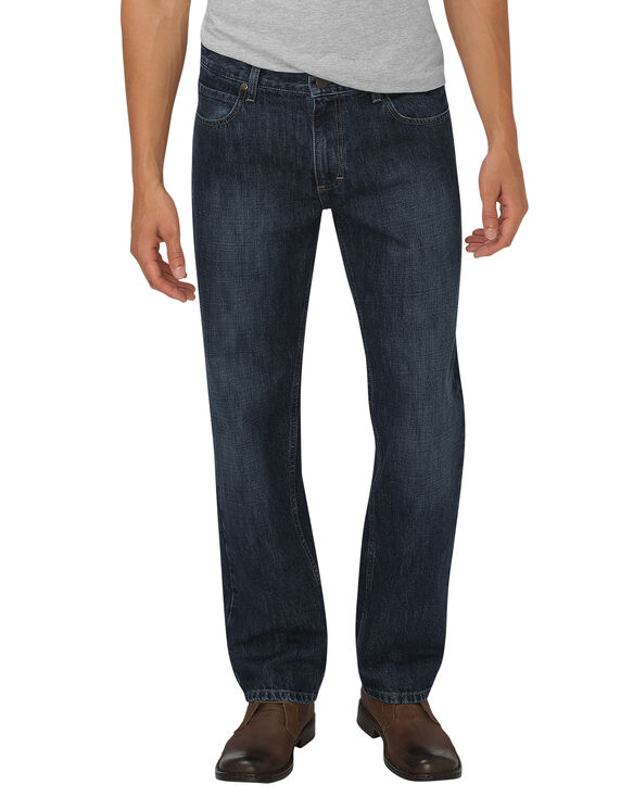 Jeans à 5 poches Dickies X-Series coupe décontractée jambe droite - Dark Indigo Blue (HDI)