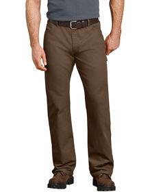 Jeans menuisier décontracté à jambe droite en coutil - Bois rincé (RTB)