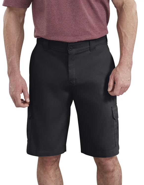 Short cargo à ceinture adaptable de 11po - Noir (BK)
