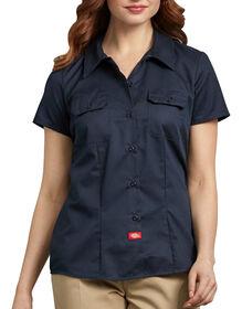 Chemise de travail à manches courtes pour femmes - marine foncé (DN)