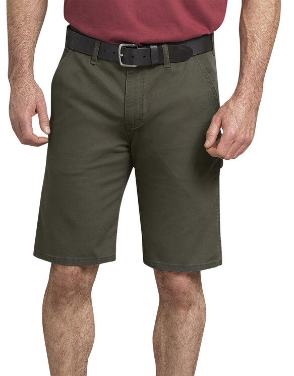 Short de menuisier Tough Max en coutil - Stonewashed Moss Green (SMS)