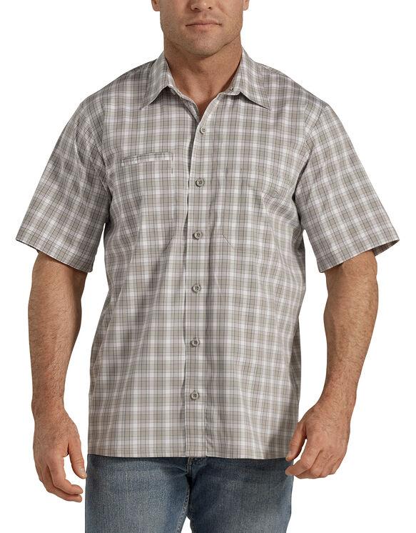 Temp-iQ™ Performance Cooling Short Sleeve Shirt - Nickel Surf Spray Plaid (KPP)