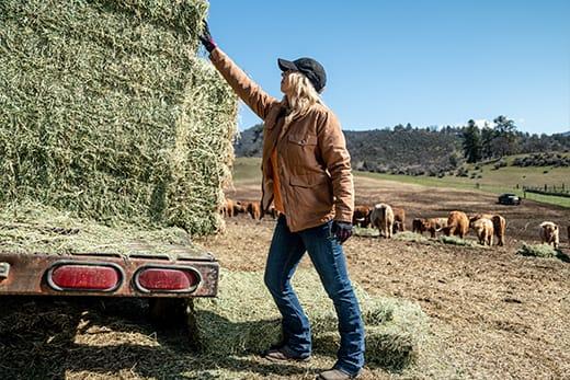 Jason and Kristina grow high-quality organic hay.