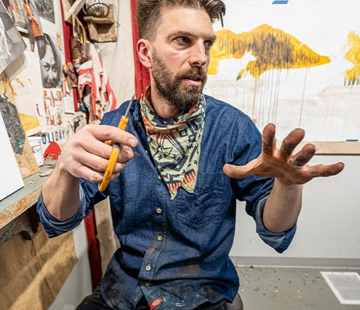 As he talks, Dolan's passion for his art is expressed in his hands.