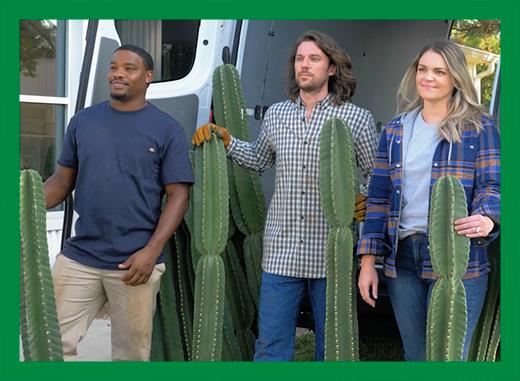 Étant profondément enracinés dans leur communauté, Will et Shelby aiment entretenir des liens et faire plaisir à leurs clients avec leurs cactus.