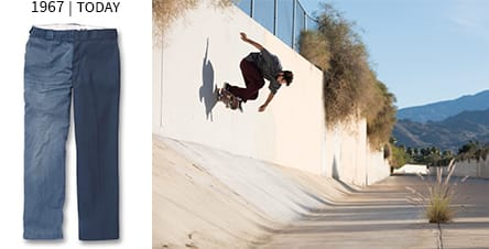 1967 | Today. Man skating on a wall.