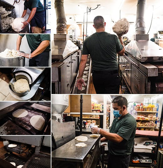 Tortillas made with authentic Mexican machines, just like home.