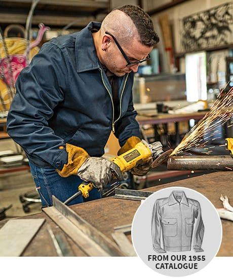 Man in Eisenhower jacket
