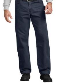 Jeans menuisier à jambe droite et coupe décontractée en coutil brossé