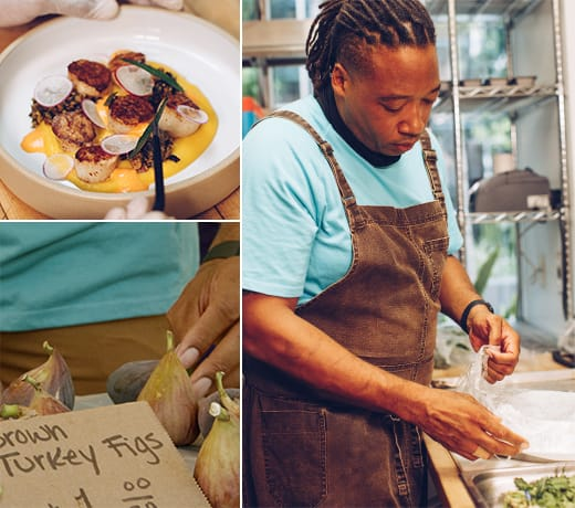 Chef Fullilove creates dishes that are both beautiful and delicious.