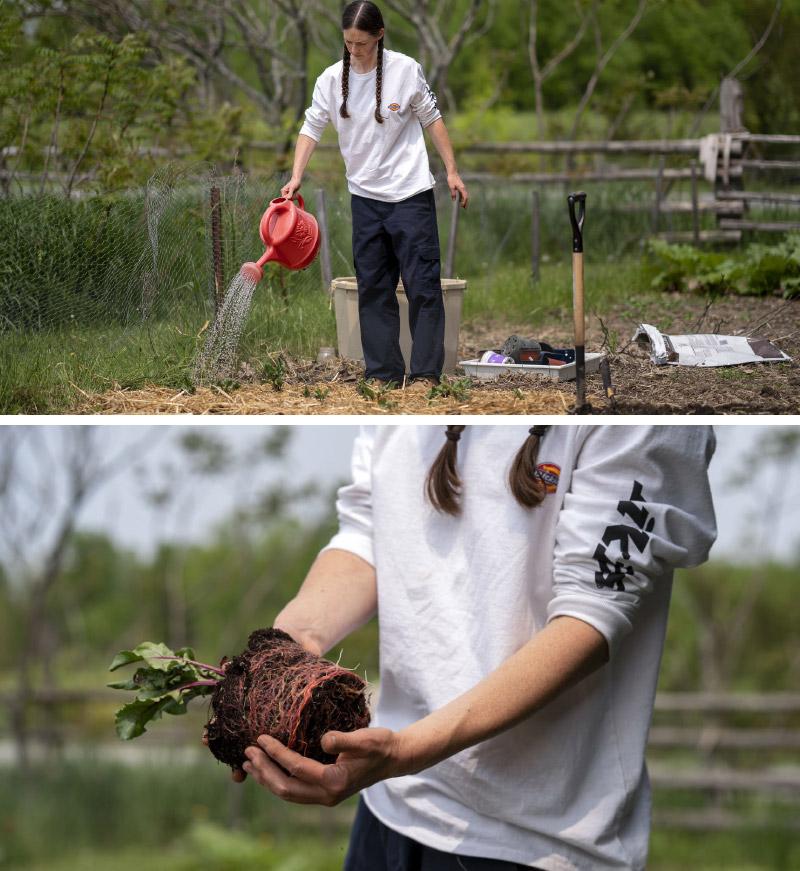Aimee Garrett, farming.