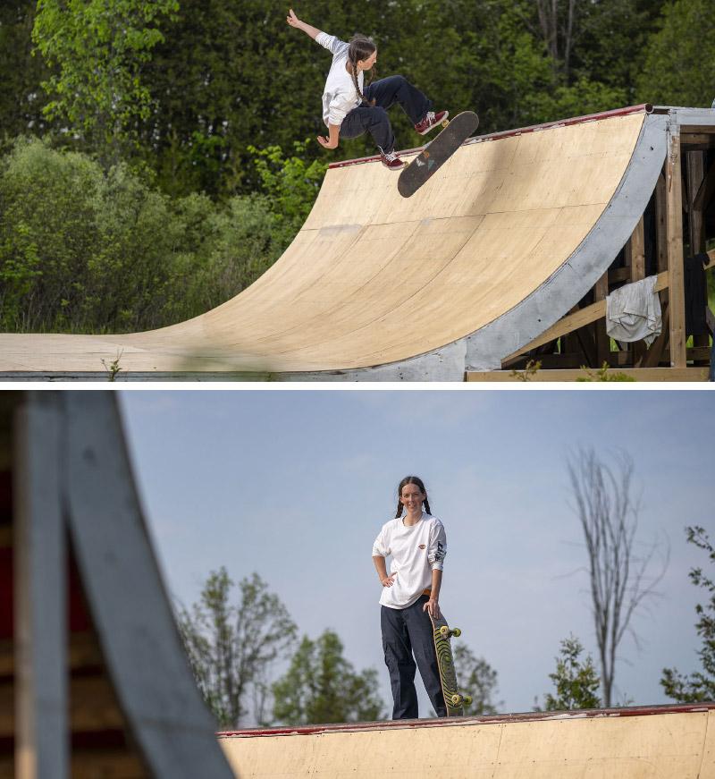 Aimee Garrett, skating