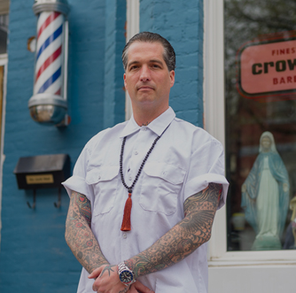 MEET JON ROTH FROM CROWS NEST BARBERSHOP.