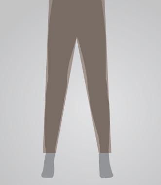 Skinny Leg Pant Opening for Men