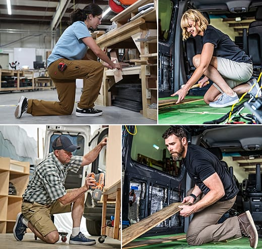 It takes teamwork at VanLife Customs.
