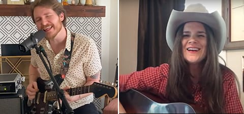 collage of multiple Grady Spencer, Matthew McNeal and Summer Dean performing from their