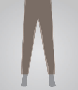 Taper Leg Pant Opening for Men