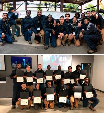 Graduating Class of the Hammer Heads Program in Toronto, Ontario